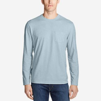 Men's Legend Wash Slub Long-Sleeve T-Shirt in Blue
