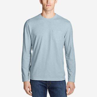 Men's Legend Wash Slub Long-Sleeve T-Shirt in Blue