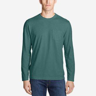 Men's Legend Wash Slub Long-Sleeve T-Shirt in Green