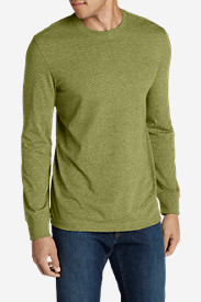 Men's Legend Wash Long-Sleeve T-Shirt - Slim Fit in Green