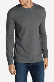 Men's Legend Wash Long-Sleeve T-Shirt - Slim Fit in Gray