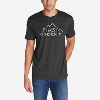 Men's Graphic T-Shirt - First Ascent Cubism in Gray
