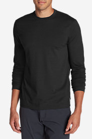 Men's Lookout Long-Sleeve T-Shirt - Solid in Black