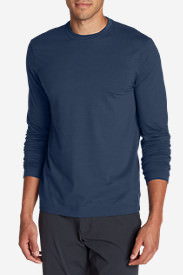 Men's Lookout Long-Sleeve T-Shirt - Solid in Blue