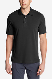Men's Voyager 2.0 Performance Short-Sleeve Polo Shirt - Relaxed Fit, Solid in Black