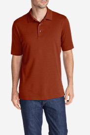 Men's Voyager 2.0 Performance Short-Sleeve Polo Shirt - Relaxed Fit, Solid in Red
