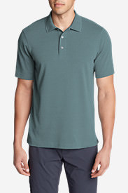 Men's Voyager 2.0 Performance Short-Sleeve Polo Shirt - Relaxed Fit, Solid in Blue