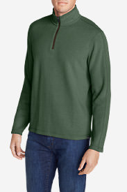 Men's Kachess 1/4-Zip Mock Pullover in Green