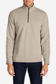 Men's Kachess 1/4-Zip Mock Pullover in Beige
