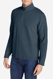Men's Kachess 1/4-Zip Mock Pullover in Blue
