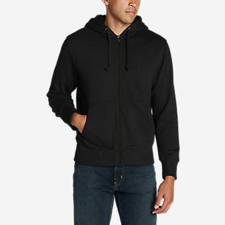 Men's Cascade Falls Sherpa-Lined Hoodie in Black