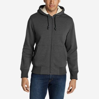 Men's Cascade Falls Sherpa-Lined Hoodie in Gray