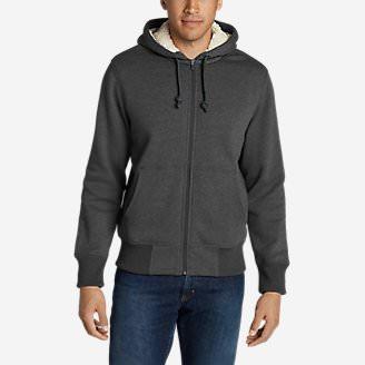 Men's Cascade Falls Sherpa-Lined Hoodie in Gray