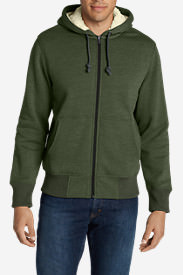 Men's Cascade Falls Sherpa-Lined Hoodie in Green
