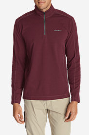 Men's Lookout 1/4-Zip Mockneck in Red