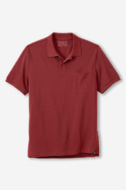 Men's Field Short-Sleeve Pocket Polo in Red