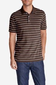 Men's Voyager 2.0 Performance Short-Sleeve Polo Shirt - Stripe in Brown