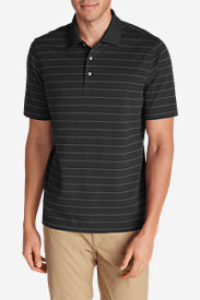 Men's Voyager 2.0 Performance Short-Sleeve Polo Shirt - Stripe in Gray
