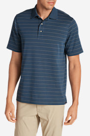 Men's Voyager 2.0 Performance Short-Sleeve Polo Shirt - Stripe in Blue