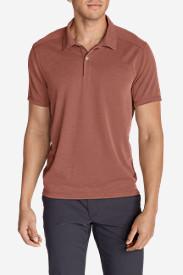 Men's Contour Performance Slub Polo Shirt in Purple