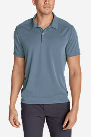 Men's Contour Performance Slub Polo Shirt in Blue