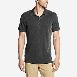 Men's Contour Performance Slub Polo Shirt in Gray