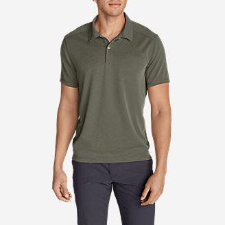 Men's Contour Performance Slub Polo Shirt in Green