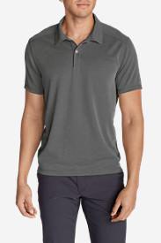 Men's Contour Performance Slub Polo Shirt in Gray