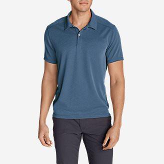 Men's Contour Performance Slub Polo Shirt in Blue