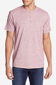 Men's Ferox Short-Sleeve Henley Shirt - Micro Stripe in Brown