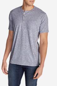 Men's Ferox Short-Sleeve Henley Shirt - Micro Stripe in Purple