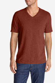 Men's Lookout Short-Sleeve V-Neck T-Shirt in Brown