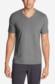 Men's Lookout Short-Sleeve V-Neck T-Shirt in Gray