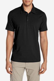 Men's Lookout Short-Sleeve Polo Shirt - Solid in Black