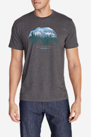 Men's Graphic T-Shirt - Bearscape in Gray
