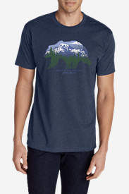 Men's Graphic T-Shirt - Bearscape in Blue