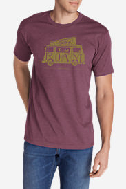 Men's Graphic T-Shirt - Born To Roam in Red