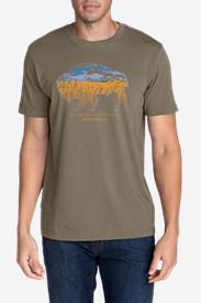 Men's Graphic T-Shirt - Buffaloscape in Green