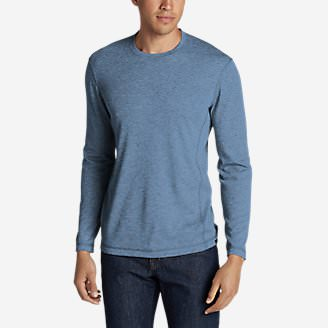 Men's Voyager Long-Sleeve Crew in Blue