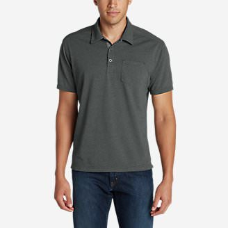 Men's En Route Short-Sleeve Polo Shirt in Gray