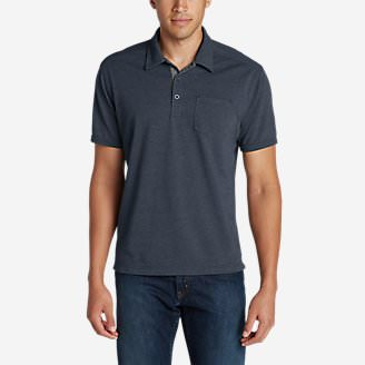 Men's En Route Short-Sleeve Polo Shirt in Blue