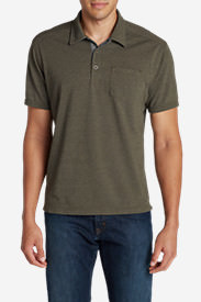 Men's En Route Short-Sleeve Polo Shirt in Green