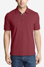 Men's En Route Short-Sleeve Polo Shirt in Red
