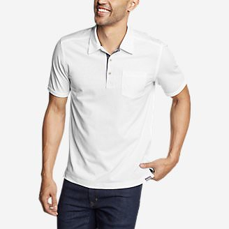 Men's En Route Short-Sleeve Polo Shirt in White
