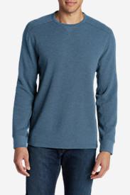 Men's Eddie's Favorite Thermal Crew Shirt in Blue