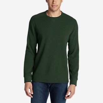 Men's Eddie's Favorite Thermal Crew Shirt in Green