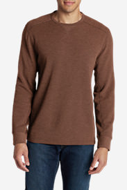 Men's Eddie's Favorite Thermal Crew Shirt in Brown