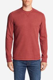 Men's Eddie's Favorite Thermal Crew Shirt in Red