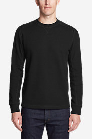 Men's Eddie's Favorite Thermal Crew Shirt in Black