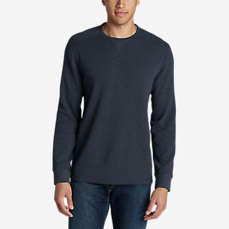 Men's Eddie's Favorite Thermal Crew Shirt in Blue